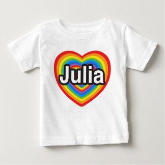 I Liebe Julia. Liebe I Sie Julia. Herz Baby T-shirt