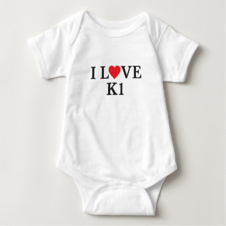 I Liebe K1 Baby Strampler