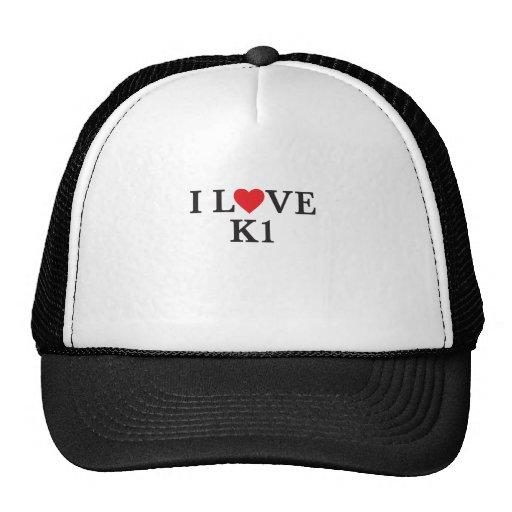 I Liebe K1 Baseball Kappe