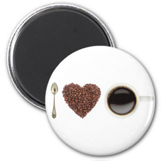 I Liebe-Kaffee 01 Runder Magnet 5,7 Cm