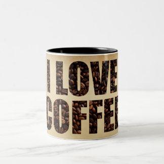 I Liebe-Kaffee-Tasse Zweifarbige Tasse