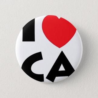 I Liebe Kalifornien Runder Button 5,1 Cm