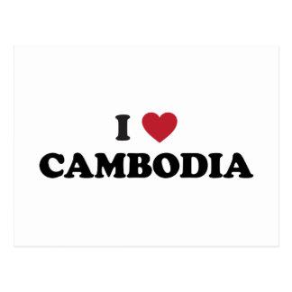 I Liebe Kambodscha Postkarte