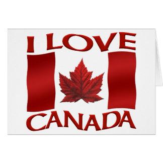 I Liebe-Kanada-Karten-Kanada-Flaggen-Karte persona