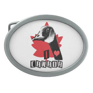 I Liebe Kanada Ovale Gürtelschnallen