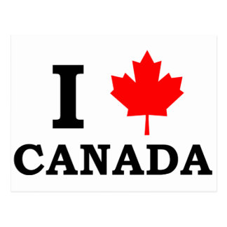 I Liebe Kanada Postkarte