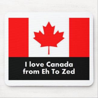 I Liebe Kanada von wie zum Zed Mousepad
