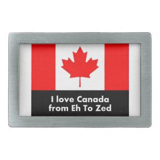 I Liebe Kanada von wie zum Zed Rechteckige Gürtelschnallen