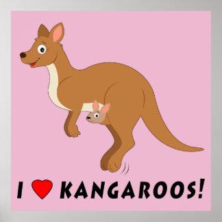I Liebe-Kängurus Poster
