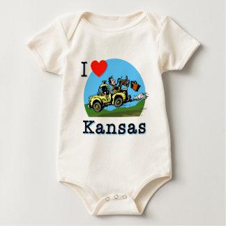 I Liebe-Kansas-Land-Taxi Baby Strampler