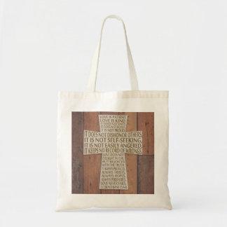I Liebe-Kapitel-Kreuz-rustikale Tasche der