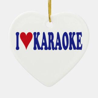 I Liebe-Karaoke Keramik Ornament