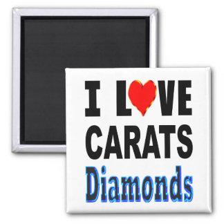 I Liebe-Karat-Diamanten Quadratischer Magnet