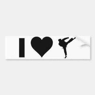 I Liebe-Karate Autoaufkleber