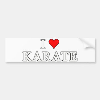 I Liebe-Karate-Autoaufkleber Autoaufkleber
