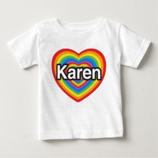 I Liebe Karen. Liebe I Sie Karen. Herz Baby T-shirt