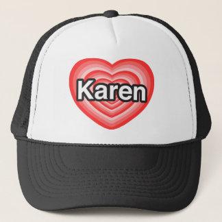I Liebe Karen. Liebe I Sie Karen. Herz Truckerkappe