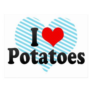 I Liebe-Kartoffeln Postkarte
