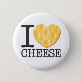 I Liebe-Käse Runder Button 5,7 Cm