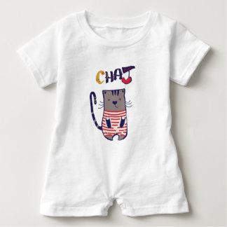 I Liebe-Katze Baby Strampler