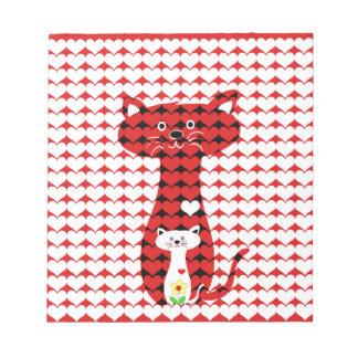 I Liebe-Katzen 2 Notizblock