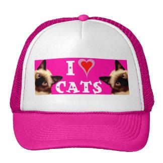 I Liebe-Katzen Caps