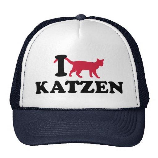 I Liebe Katzen Netzmütze