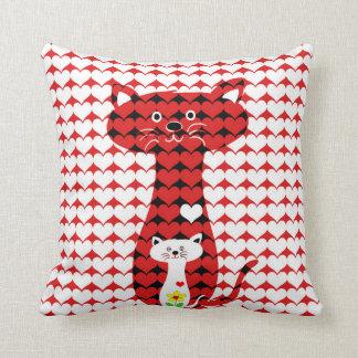 I Liebe-Katzen Kissen