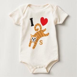 I Liebe-Katzen-Kleid Baby Strampler