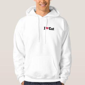 I Liebe-Katzen-Schwarzes S Hoodie