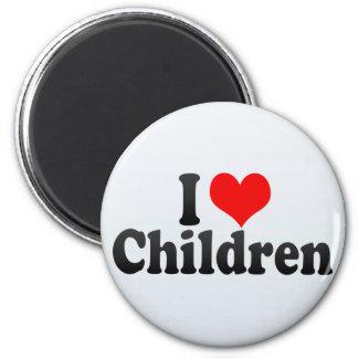 I Liebe-Kinder Runder Magnet 5,1 Cm