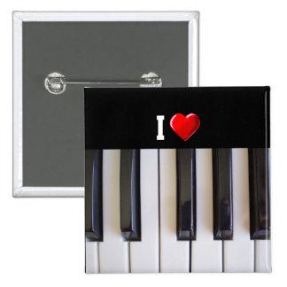I Liebe-Klavier Anstecknadelbutton