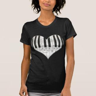 I Liebe-Klavier oder Organ-Musik-Herz-Tastatur T Shirt