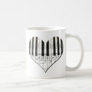 I Liebe-Klavier oder Organ-Musik-Herz-Tastatur Tasse