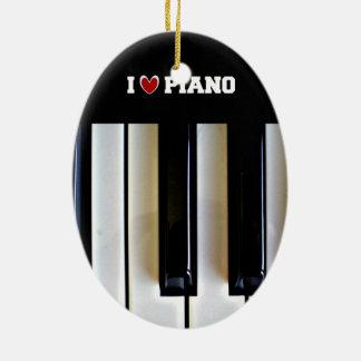 I Liebe-Klavier Ovales Keramik Ornament