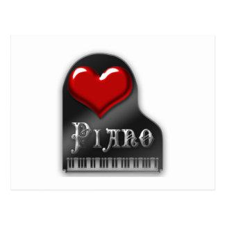 I Liebe-Klavier Postkarten