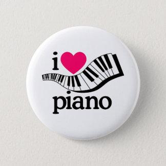 I Liebe-Klavier/Tastatur Runder Button 5,1 Cm