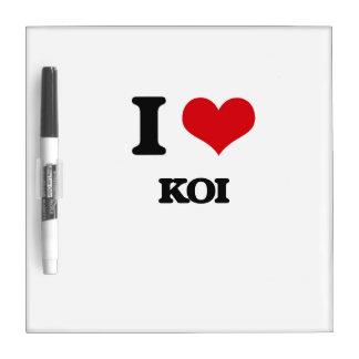 I Liebe Koi Memo Boards
