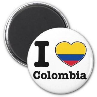 I Liebe Kolumbien Runder Magnet 5,7 Cm