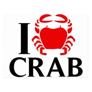 I Liebe-Krabbe Postkarte