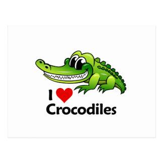 I Liebe-Krokodile Postkarte