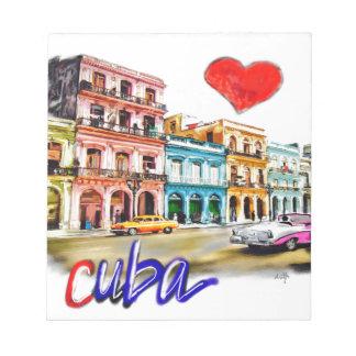 I Liebe Kuba Notizblock