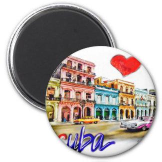 I Liebe Kuba Runder Magnet 5,7 Cm