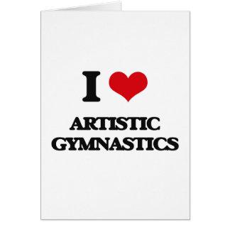 I Liebe-künstlerische Gymnastik Grußkarte