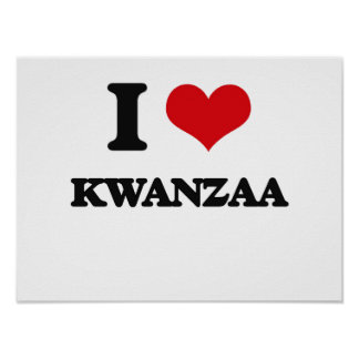 I Liebe Kwanzaa Posterdrucke