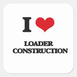 I Liebe-Lader-   Bau Quadrataufkleber