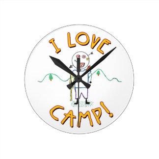 I Liebe-Lager - lustiges Runde Wanduhr