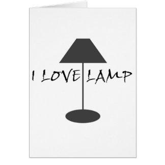 I Liebe-Lampe Karte