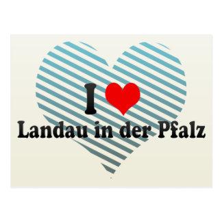 I Liebe-Landauer im der Pfalz, Deutschland Postkarte