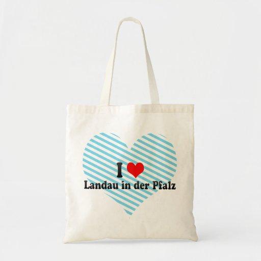 I Liebe-Landauer im der Pfalz, Deutschland Tasche